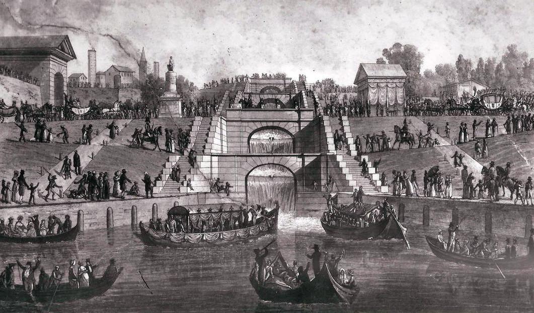 """La """"Scala d'acqua"""" del Naviglio Pavese a Pavia"""