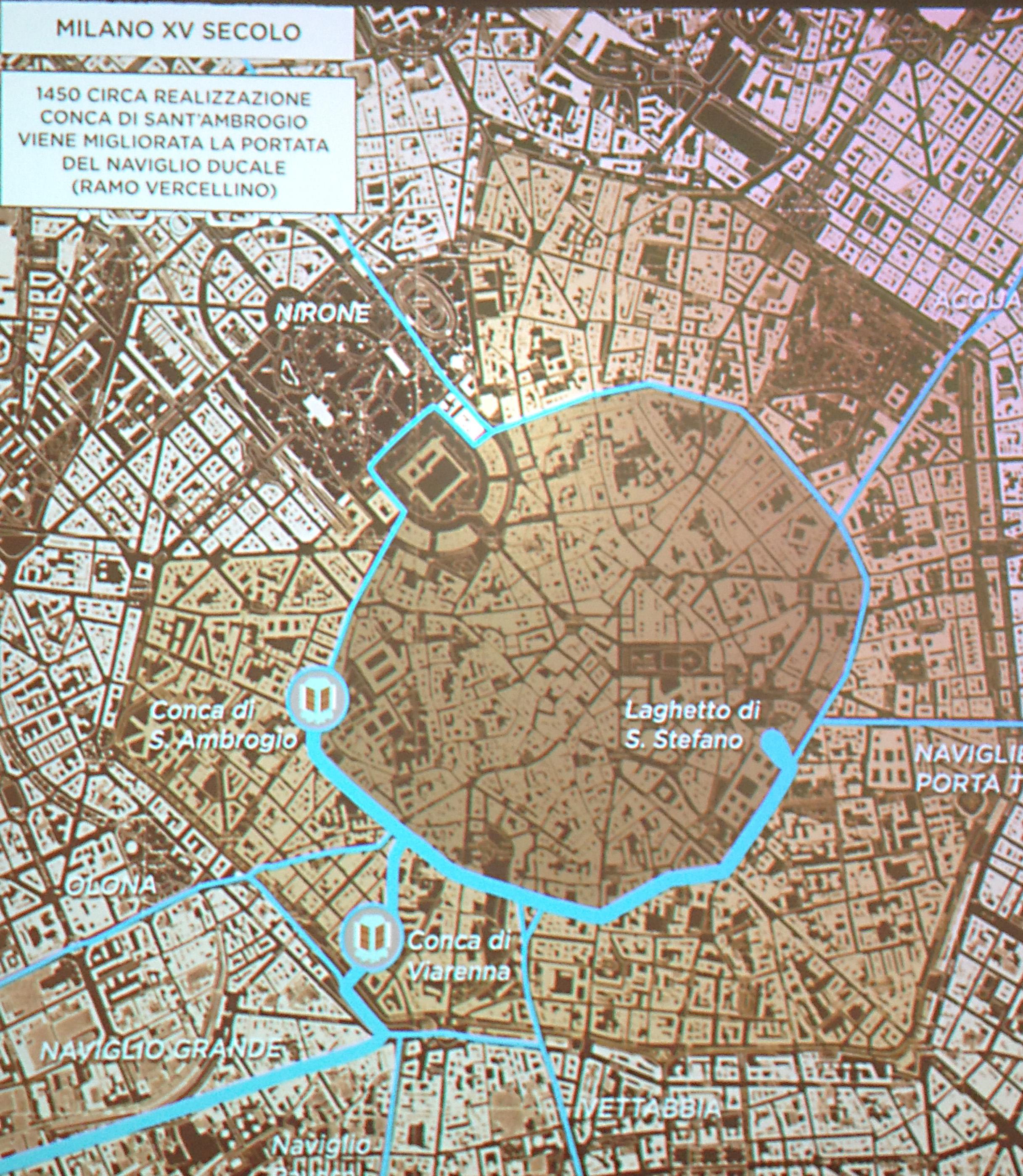 Mappa interattivi dei Navigli milanesi