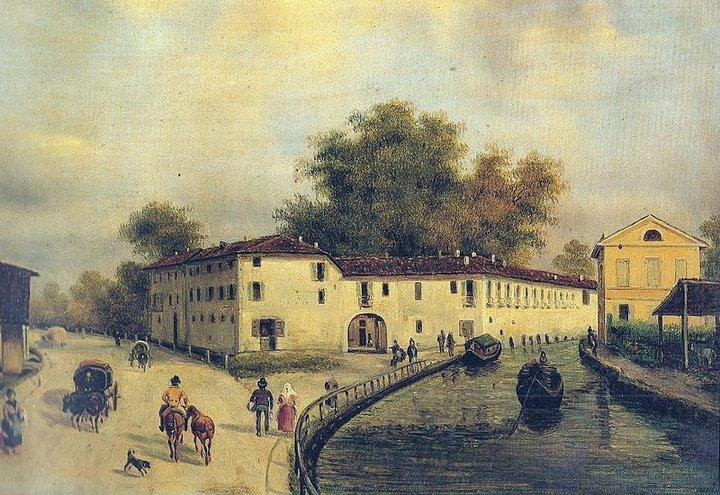 Cassina de pomm martesana milano dipinto del 1800