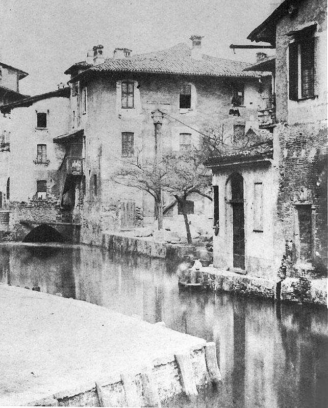 L'accesso al laghetto di Santo Stefano nel 1855