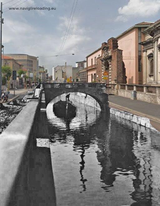Naviglio in via Francesco Sforza