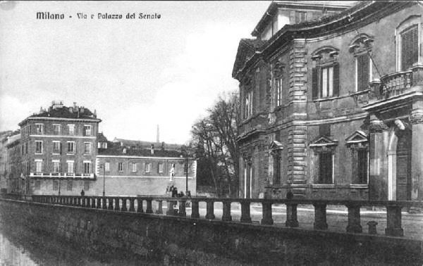 Palazzo del Senato in Via Senato, 1910 circa